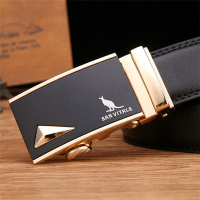 New Designer Men's Belts Luxury Man Fashion Genuine Leather Cowskin Belt for Men High Quality Automatic Buckle Male Waist Strap - Dropshipper US