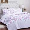 Naturelife Floral Pattern Quilt Set Bedspread Bed Cover Quilted Bedding Set Duvet Cover Pillowcase Quilts Warm Coverlet Set - Dropshipper US