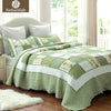 Naturelife Ruffle Pattern Quilt Set Bedspread Bed Cover Quilted Bedding Set Duvet Cover Pillowcase Quilts Warm Coverlet Set - Dropshipper US