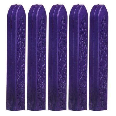 5PCS Vintage Manuscript Sealing Seal Wax Sticks Wicks Postage Letter decorating envelopes parcels invitations postcards 10colors - Dropshipper US