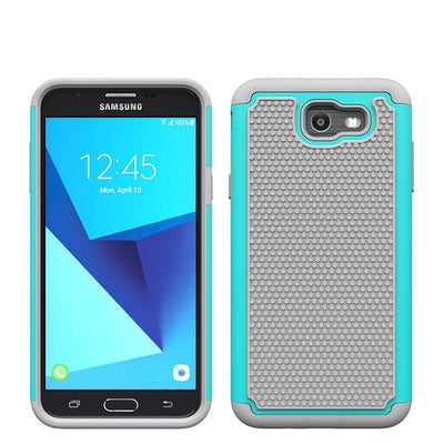 Dual Layer Hybrid Armor Case Shockproof Silicone Rubber Hard PC Cover For Samsung Galaxy J7 2017/J7 V 2017/J7 Sky Pro/J7 Perx @ - Dropshipper US