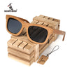 BOBO BIRD Vintage Bamboo Wooden Sunglasses Handmade Polarized Mirror Coating Lenses Eyewear sport glasses in Wood Box - Dropshipper US