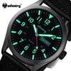 Men Quartz Watches INFANTRY Luxury Brand Military Ultra Thin Nylon Band Hot Wristwatch Luminous Sport Watches Relogio Masculino - Dropshipper US