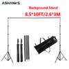 ASHANKS 2.6M X 3M/8.5*10ft Pro Photography Photo Backdrops Background Support System Stands For Photo Video Studio + carry bag - Dropshipper US