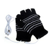 New 5V USB Powered Heating Heated Winter Hand Warmer Gloves Washable Fingerless Winter Hand Warmer Gloves Askeri Eldiven - Dropshipper US
