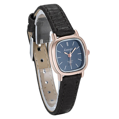 Lancardo Black Top Brand Fashion Ladies Watches Leather Female Quartz Watch Women Thin Casual Strap Watch Relogio Feminino