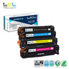 LCL 305X 305A CE410X CE410A CE411A CE412A CE413A (4-Pack KCMY) Toner Cartridge Compatible for HP Laserjet Enterprise 400 color - Dropshipper US