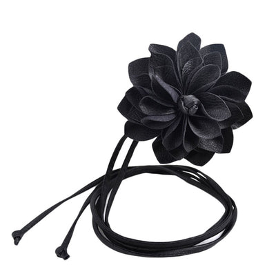 Fashion Lady Leater waistband Stretch Elastic Wide Belt three-dimensional Waist Belt Clothing Accessories Flower