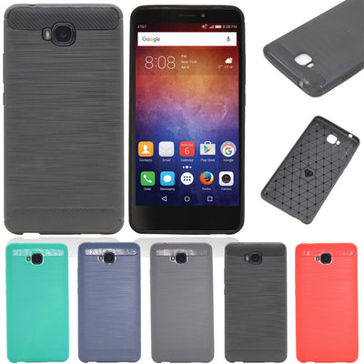 "Hybrid Brushed Tough Armor Case Shockproof Impact Protection TPU Rubber Cover Fundas Cases For Huawei Ascend XT 6.0"" @"
