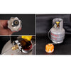Metal +PU Outdoor Camping Gas Stove Safe Switching Charging Inflatable Valve Adapter for Flat Tank Liquefied Gas Cylinder - Dropshipper US