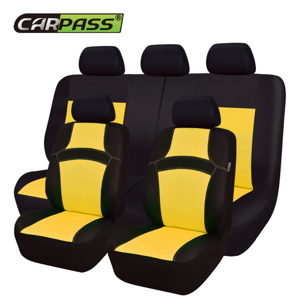 Car Pass RAINBOW Full Set Universal Seat Covers Styling Protector Automobiles