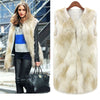 Feitong 2017 winter coat women Warm Faux Fur Sleeveless Vest Coat Waistcoat Jacket Outwear casaco feminino Plus Size