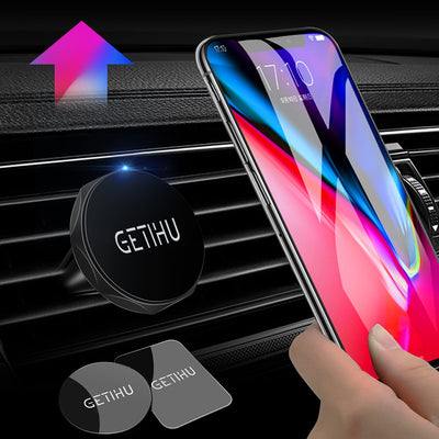 Car Holder Mini Air Vent Mount Magnet Magnetic Cell Phone Mobile Holder Universal For iPhone 5 6 6s 7 GPS Bracket Stand Support - Dropshipper US