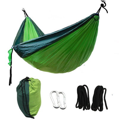 1or 2 People Portable widening parachute hammock outdoor camping swing Parachute Hammock Camping Garden Leisure sleeping bag - Dropshipper US