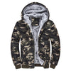 Men's camouflage winter coat sports Hiking Jackets Mens Camouflage Hoodie Winter Warm Fleece Zipper Sweater Jacket Outwear Coat - Dropshipper US
