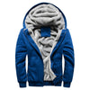Men's winter plus velvet baseball wear sport coat Hiking Jacket Men Hoodie Winter Warm Fleece Zipper Sweater Jacket Outwear Coat - Dropshipper US