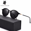 HEPIDEM New Fashion Acetate Round Sunglasses Men High Quality Sun Glasses for Women Vintage Mirrored Polarized Sunglass 5202 - Dropshipper US