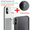 High Recommend For iPhone X 9H Hardness Back Camera Lens Tempered Glass Film 3D Protector Cover phone accessories