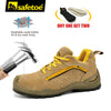 Safetoe Safety Shoes Mens Work Boots Safety Shoes Steel Toe Work Boots Fashion Leather Shoes Working Safety Boots Size US 4-13 - Dropshipper US