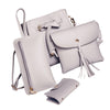 Hot Sale Cheap Wallet Women Four Set Fashion Hand Shoulder Bag Four Pieces Tote Bag Crossbody Wallet Leather Card package