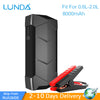 LUNDA Smart Car Jump Starter ultra-thin mini  multi-function portable power source 8000mAh Start the 2.0 L gasoline vehicles - Dropshipper US