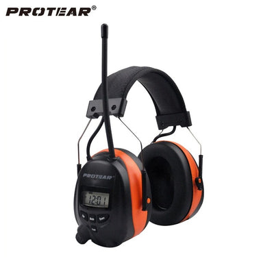 Protear NRR 25dB Hearing Protector Blue tooth AM/FM Radio Earmuffs Electronic Ear Protection Bluetooth Headphone Ear Defender - Dropshipper US