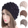 Women Winter Beanie Hat Faux Fur Knitted Hat Mid-aged Female Skullies & Beanies Turban Brim Hats for Women - Dropshipper US