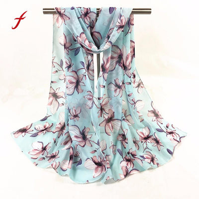 FEITONG Fashion Scarves For Women New Spring Printed Long Soft Scarf Wrap Shawl Stole Pashmina Scarves Beach Female scarf 2018