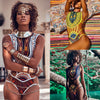 HOT SALE NEW Women African Print Bikini Set Swimwear Push-Up Padded Bra Swimsuit Beachwear Bikini Swiming #1DQ