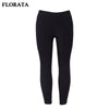 FLORATA 2017 Summer Fashion Women's Clothing Pants Female Trousers Pure Black Leggings Simple