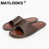 Men's Slippers Spring And Summer genuine Leather Home Indoor Slip Non-slip Slippers 2018 New Hot 8802 - Dropshipper US