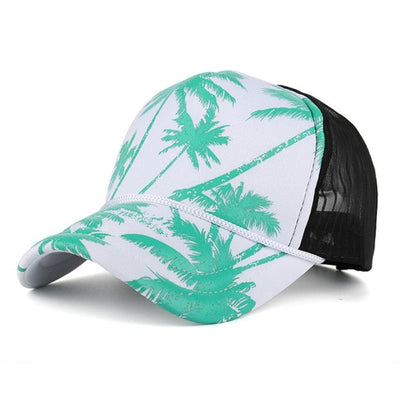Women Men Coconut Tree Print Baseball Cap Snapback Hip Hop Flat Hat 2018 Summer Breathable Mseh Caps Gorro #10 - Dropshipper US