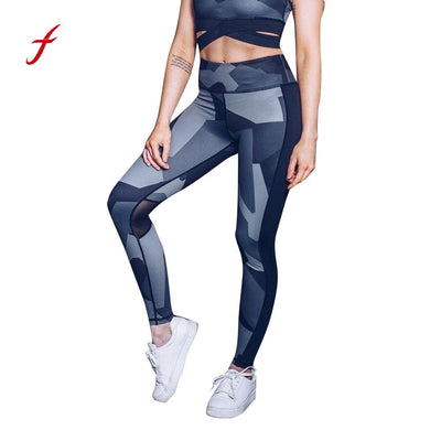 Women High Waist Splice Skinny Pants Fitness Leggings Clothes Stretch Fitness Exercise Pants Trouser pantalon mujer