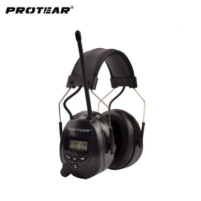 Protear NRR 25dB Electronic Hearing Protector AM FM Radio Earmuffs Electronic Ear Protection For Shooting Electronic Earmuff - Dropshipper US