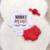 Newborn Infant Baby Girl Letter Romper Tops Tutu Lace Shorts Pants Headband Outfits Clothes Set Long Sleeve Babe Clothing Sets