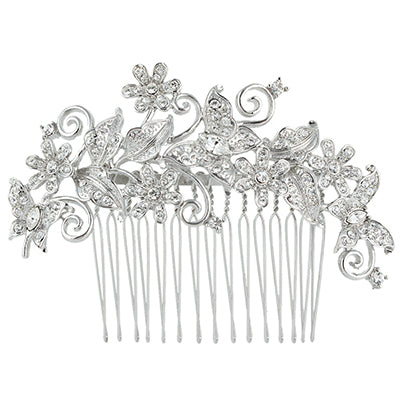 Bella Fashion Butterfly Animal Bridal Hair Comb Clear Austrian Crystal Rhinestone Hair Piece For Wedding Bridesmaid Jewelry Gift - Dropshipper US