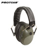 Prptear Single Microphone Electronic Hunting Earmuff Shooting Range ArmyGreen Hunting Range Gear Hearing Protection NRR 22dB - Dropshipper US