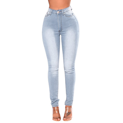 2018 new Women arrival fashion long pants Skinny Denim Jeans Pants High Waist Stretch Slim Pencil Trousers pantalons pour femmes - Dropshipper US