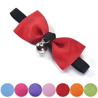 MUQGEW Adjustable Dog Cat Pet Bow Tie With Bell Puppy Kitten Necktie collar pajarita French Bulldog Pet Supplies Accessories