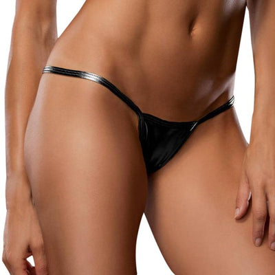 Women Briefs Elastic Sexy Comfortable Underpants Bare Imitation Leather Underpants Lingerie Lady Thongs Stretch Breathable Brief