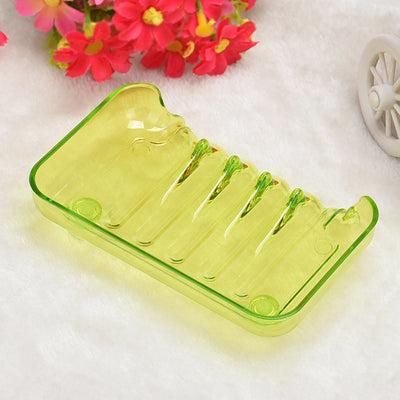 1PC Bathroom Shower Soap Box Dish Storage Plate Tray Holder Case Suction 0.8 - Dropshipper US