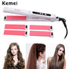 110-240V Kemei Curling Iron Hair Curler Straightener Ceramic Hair Curling Straightening Corrugated Hair Curler Styling Tools - Dropshipper US