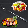 ISHOWTIENDA Long Stainless Steel Cocktail Fruit Fork Cutlery Dessert Cake Kitchen Tableware Fork In Fruits Vegetables Meatloaf