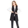 Womens Solid Sleeveless Waistcoat Vest Gilet Jacket Coat Parka Outwear Cardigan Spring and Autumn vest wool woolen jacket - Dropshipper US