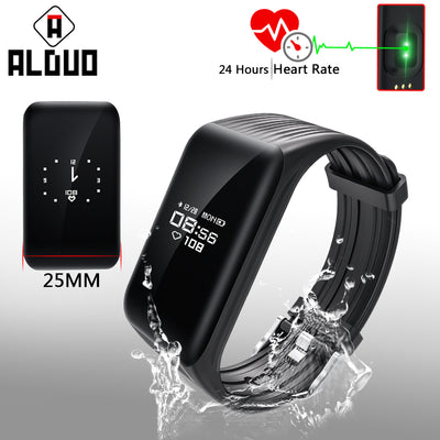 ALANGDUO K1 Fitness Tracker Smart Bracelet Heart Rate Monitor Waterproof Sports Bluetooth Wristband Big OLED Screen Smart Band - Dropshipper US