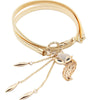 Cute Charming Women Little Fox Stretch Rhinestone Gold Waist Chain Belt