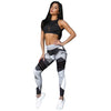 Free Ostrich Women Fashion Legging Aztec Round Ombre Printing leggins Slim High Waist Leggings Woman Pants C0240