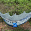 Outdoor Hammock Folded Into Pouch Mosquito Net Hammock Tent Hanging Bed For Travel Kits Camping Garden Swing Hammocks