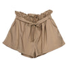 Feitong   Women Casual Design High Waist Loose Fashionable Shorts Female With Belt  2018  Summer  Solid Polyester Shorts