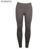FLORATA Hot-sale mesh fitness leggings trousers for women 2017 leggings grey slim legging pants female elastic